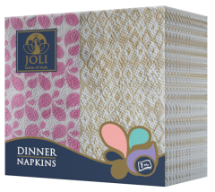 Dinner_Napkins_Pink_Flowers_Yellow_Rhombus